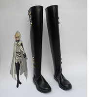 All'ingrosso-Seraph Of The End Scarpe Cosplay Mikaela Hyakuya avvio Uniforme militare Cosplay Ferid Bathory Boots