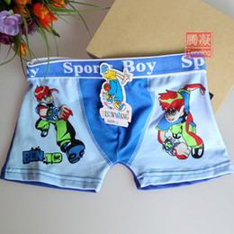 Wholesale Cartoon Boxers Shorts Wholesale - Wholesale-Free shipping 6 pcs 3-10 ages cotton cartoon boxers boy children kids short boxers boys Ben 10 cartoon boxers