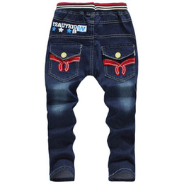 Wholesale Baby Clothes Delivery - Wholesale-Retail! Free Delivery 2015 new Spring and autumn baby boy Fringe jeans children's clothing 2-6 year child denim trousers