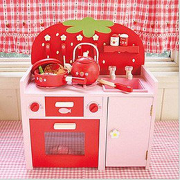 Wholesale Strawberry Furniture - Wholesale-SVR Pink Lovely Strawberry Toy Furniture Kitchen Play House