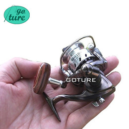 Wholesale Rod Reels - Wholesale-Goture Palm Size Metal Coil Mini Fishing Reel Ultra Light Small Spinning Reel For Ice Fish Pen Fishing Rod Molinete Pesca