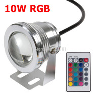 Wholesale W LED Underwater Light Waterproof IP68 RGB swimming pool light Colors Change With IR Remote UK Stock