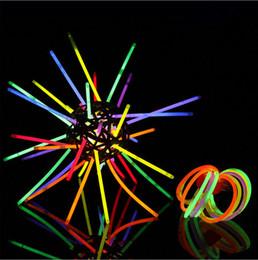 Wholesale Bright Glow Sticks - Wholesale-50pcs lot Christmas Festivities Ceremony Multi Color Glow Fluorescence Sticks Bracelets Neon Party Bright Colorful Light