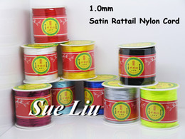 Wholesale 1mm Rattail Cord Wholesale - Wholesale-1mm Rattail Satin Cord Chinese Knot Beading Cord: Nylon 80yd Spool NCN7S