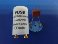 Wholesale Certificate Electronics - Wholesale-LED tube fuse starter for T8 LED tube light,1A 2A CE,ROSH certificate,The best electronic LED starter,