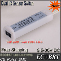 Wholesale Ir Switch 24v - Wholesale-Hot Sale Dual Modes Low voltage IR Sensor Switch 12v 24v work with Under Cabinet lighting or Showcase light auto. controller