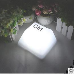 Wholesale Night Lamp Ceramic Wholesale - Wholesale-USB dual creative button lights LED table lamp night light