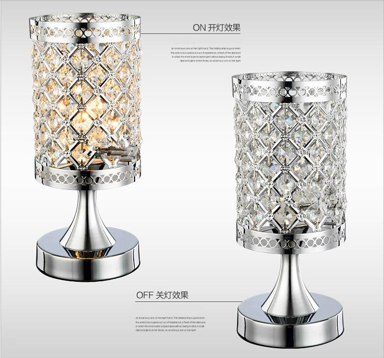 Wholesale Modern Small Crystal Table Lamps Brief Bedroom Bedside