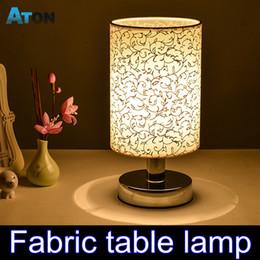 Wholesale Hot Sales Fabric Led Desk Lamp Fashion Bedroom Light Bedside Lamp Modern Brief Rustic Small Table Lamp Abajur Lampada