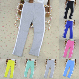 Wholesale Striped Pants Cheap - Wholesale-Cheap&High Quality! Hot Candy Color Stripes Casual Baby Kids Girl Pants Cozy Sport Trousers Leggings