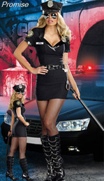 Wholesale Sexy Police Girl Uniform - Wholesale-New Arrival Halloween Costumes for Women Cosplay male police costume Navy uniforms Clothing girl sexy party dress