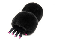 Wholesale Hand Cuffs Furry - Wholesale-Free Shipping Winter Faux Fur Oversleeve Wrist Arm Warmer Cuff Cover Fuzzy Furry Wristband Hand Muff