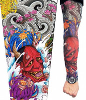 Wholesale Top Arm Tattoos - Wholesale-2015 top fashion cardigans vampire Arm Warmers temporary tattoo sleeves halloween costume legs stockings Unisex 140 Styles