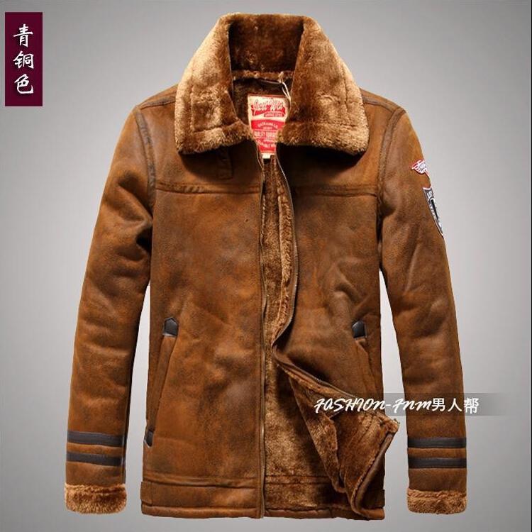 Online Cheap Fall Hot Sale Men Faux Leather Jacket Mens Fur Coats ...