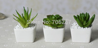 Wholesale Wholesale Furniture Pricing - Wholesale-Top price Free shipping Mini indoor potted plant white ceramic handmade crafts,Furniture decoration, wedding decoration
