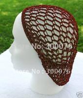 Wholesale Headband Scarf Crochet - Wholesale- Soft Rayon Snood hat Hair Net Crocheted Hair Net cap mix colors hat vintage scarf