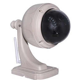 Wholesale Webcam Dome Wifi - IR Cut Pan Tilt Night Vision Wireless Wifi Waterproof Outdoor Dome Security Surveillance PoE Webcam Network IP Camera Free DDNS