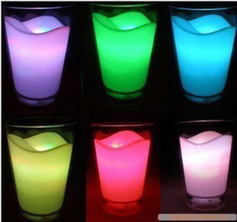 Wholesale Milk Glass Led Night Light - Wholesale-Best Seller Price! New Arrival Milk Glass Cup 7 Colour Changed LED Lamp Night Lighting Lamp