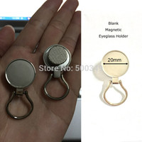 Wholesale Dome Brooch - Wholesale-Blank Magnetic Eyeglass Holder ID Badge Holder Brooch DIY Fit to 20mm Dome