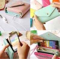 Wholesale Multifunctional Galaxy S3 Case - Wholesale-Free shipping# New Multifunctional Envelope Wallet Purse Phone Case for Iphone 5 Galaxy S3 S4