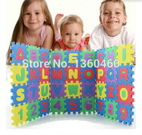 Wholesale Tapete Puzzle - Wholesale-36 Pcs Set Baby Play Mat Puzzle Carpet EVA Numbers+Alphabet Floor Pad Foam Crawling Mat Kids Play Mats Thick Tapete Para Bebe