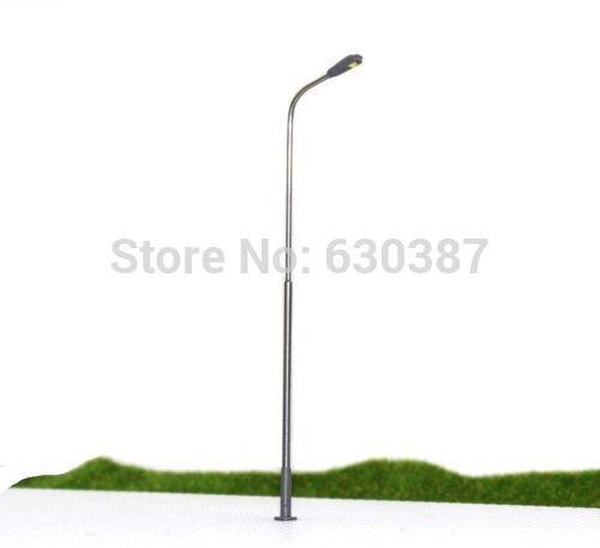 best selling Wholesale-LQS08 20pcs Model Railway Train Lamp Post Street Lights HO OO Scale LEDs NEW