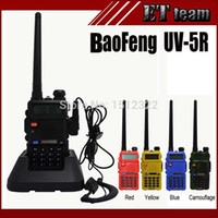 Wholesale Baofeng Vhf Uhf 5r - Wholesale-2015 Hot Portable Radio Baofeng UV-5R two way radio Walkie Talkie pofung 5W vhf uhf dual band 136-174 400-520MHZ baofeng uv 5r