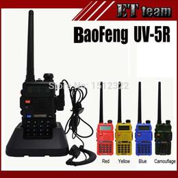 Wholesale Dual Vhf - Wholesale-2015 Hot Portable Radio Baofeng UV-5R two way radio Walkie Talkie pofung 5W vhf uhf dual band 136-174 400-520MHZ baofeng uv 5r