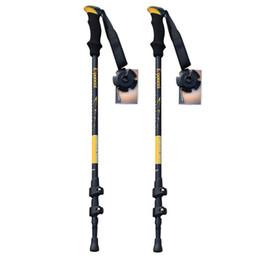 Wholesale Telescoping Walking Poles Hiking - Wholesale-Nordic Walking Sticks Telescope Aluminum Ski,Trekking,Hiking Poles With Rubber Tips 2pcs Pack