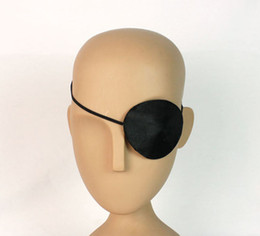 Wholesale Black Eyepatch - Wholesale-New Adults Halloween Pirate Eyepatch Black Costume Accessory - Single Eye Patch