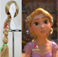 Wholesale Wig Props - Wholesale-Tangled Rapunzel Cosplay Wig The Princess Cos Prop Wig Anime