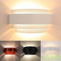 Wholesale Hotel Bathroom Fixtures - Wholesale-Modern Semicircle Wall Lamp LED Bulb 3W Hotel restroom bathroom bedroom wall light AC90~265V fixtures Hallway Indoor Lighting