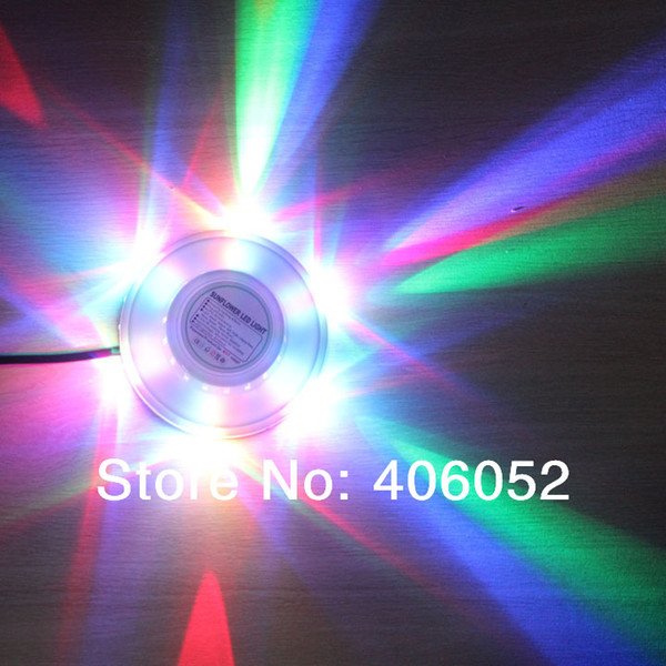 Wholesale-UFO Portable Laser Stage lights 8w rgb 48leds sound activated sunflower led lighting wall lamp for KTV DJ Party Wedding Club