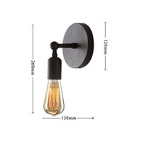 Venda por atacado-Hot Big Promation alta qualidade Vintage Bulb Estilo Retro Breve Wall Light Sconce Edison Lamp 220V adequado para casa