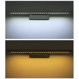 Wholesale 2015 New 180 Degree Adjustable Mirror Front Lighting Wall Lamp With Switch Stainless Steel Bathroom 85 265V 5050 SMD 30LEDs 7W