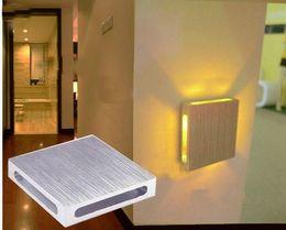 Wholesale Colored Bedside Lamps - Wholesale-3 watt+ 110-220V LED bedroom bedside lamp creative decorative colored backdrop lighting living room with bar