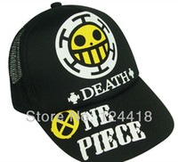 Wholesale Trafalgar Hat - Wholesale-Free Shipping New Anime One Piece Trafalgar Law Hats Sun Cap Cosplay Costumes