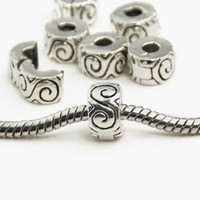 Wholesale European 925 Stopper Bead - Wholesale-925 Clips Locks Beads Water ripple Stopper Bead Charms European Beads Fit Pandora Bracelets & Bangles B00010