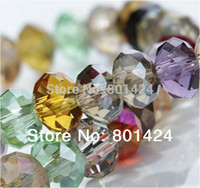 Wholesale 72 Glasses - Wholesale-100pcs 72-1 Assorted china top AAA quality 5040 assorted crystal beads 4MM 6MM 8MM 10MM Faced glass rondelles bead