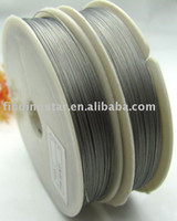 All'ingrosso-FREE SHIPPING 0,45 millimetri 1ROLL 100M Argento Tiger Tail filo perline M82