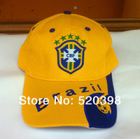 Wholesale Hat World Cup - Wholesale-2015 Brazil World Cup soccer fans supplies cotton sports cap hat souvenir cap