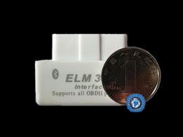 Wholesale Discount Mini Top - Wholesale-Big Discount!!Top selling SUPER MINI ELM327 Bluetooth OBD2 V2.1 White Smart Car Diagnostic Interface ELM 327 Wireless Scan Tool