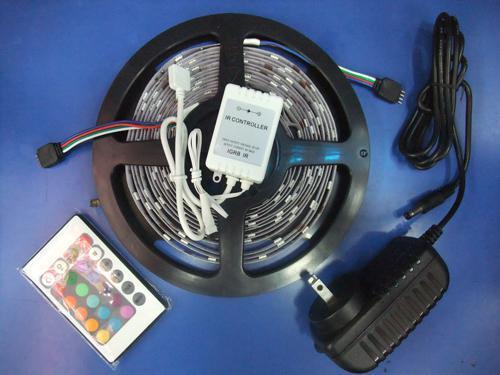 Top-kind 5M SMD 5050 150leds 30leds/m RGB LED light Strip+24-key rgb Controller+12v 2a power (non waterproof)