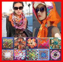 Wholesale Women S Head Scarves - Wholesale-summer style scarf brand silk square scarf woman lady hijab under scarf head scarf 90*90cm S-001