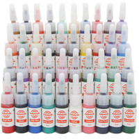 Wholesale Usa Warehouse Tattoo Ink Sets - Wholesale-New Durable 40 Bottles Mini Colorful Tattoo Ink pigment 5ml Complete set 40*5ml Supply WS-I001 freeshipping from USA warehouse