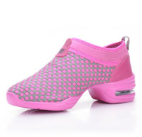 Wholesale Dance Shoes Sport - Wholesale-New designs female sports casual mesh shoes Autumn dance sneakers for women Jazz shoes quality Latin dance shoes size 35-40