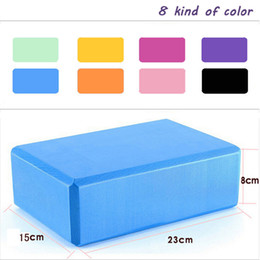 Wholesale Yoga Block Green - Wholesale-Many Colors Square Yoga Blocks Foam Brick Home Exercise Practice Fitness Gym Equipment Free Shipping