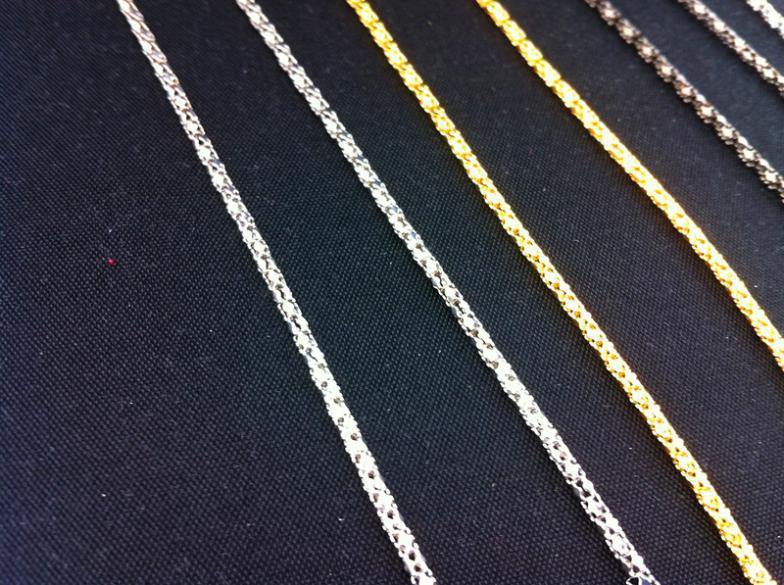 Оптовая продажа-Оптовая 61 см серебро золото черный очки Очки Очки Очки Очки цепи шеи шнур ремень веревки 60 шт. / лот