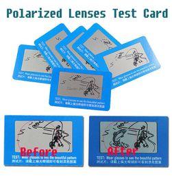 Тест-карты с поляризованными солнцезащитными очками онлайн-Оптовая продажа-поляризованные линзы тест карты для очки магазины, поляризация поляризованные тест бумаги для poloroid polariod линзы солнцезащитные очки