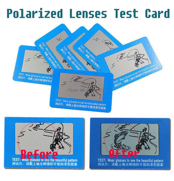 Wholesale-Polarized Lenses Test Card for glasses shops, polarization polarised test paper for poloroid polariod polaroid lenses sunglasses